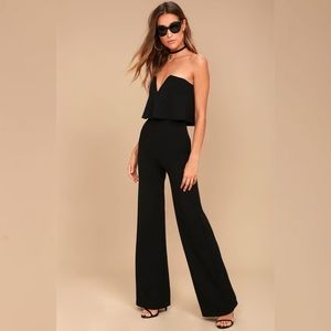 NWT Lulus Black Strapless Jumpsuit